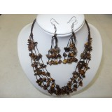 Necklace and Earings Set Tiger Eye