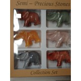 Box of 6 Mixed Elephants