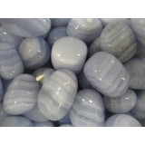 Agate - Blue Lace  AAA Quality - Tumbled  20x30mm    200 GRAMS