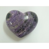 Charoite Puff Heart 35mm  x 45mm (Width) x 25mm (Thickness)