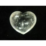 Quartz Puff Heart 30mm  x 35mm (Width) x 15mm (Thickness)