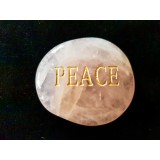 Rose Quartz Namestone - PEACE
