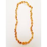 Baltic Amber Baby Teething Necklace - honey yellow