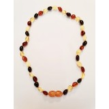 Baltic Amber Baby Teething Necklace - mixed colours