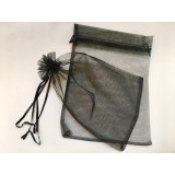 Organza Pouch 50 Pack - Black - Large