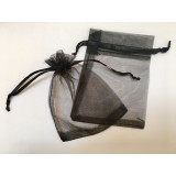 Organza Pouch 50 Pack - Black - Small