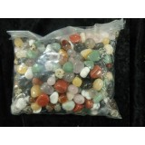 1kg Bag of assorted Tumbled Stones 10x15mm