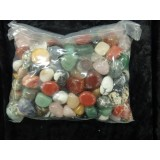 1kg Bag of assorted Tumbled Stones 20x25mm