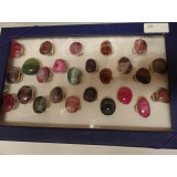 Agate Rings - Adjustable - Assorted Box, 25 pieces