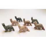 Soapstone Carving - Dinosour Brontosaurus - various colours