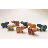 Soapstone Carving - Bear - various colours