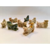 Soapstone Carving - Cat Pouncing - various colours