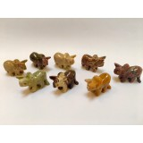 Soapstone Carving - Dinosaur Triceratops - various colours