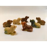 Soapstone Carving - Dog - various colours