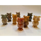 Soapstone Carving - Owl - various colours