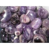 Amethyst - Chevron - Tumbled  20x30mm    200 GRAMS