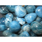 Apatite Tumbled - Blue AAA 20x30mm   200 GRAMS