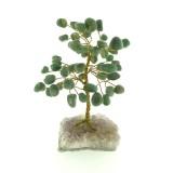 Aventurine on Amethyst base - Gemstone Tree -150mmH