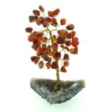Carnelian on Amethyst base - Gemstone Tree - 150mmH