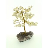 Clear Quartz on Amethyst base - Gemstone Tree 150mmH