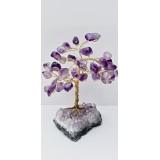 Amethyst on Amethyst stand Tree - 120mmHx75mmW