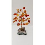 Carnelian on Amethyst base - Gemstone Tree - 120mmHx75mmW
