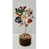 Chakra Multi - Gemstone Tree - 160mmHx100mmW