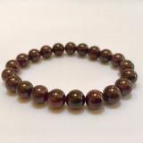 Red Garnet Round Stone Bracelet 8mm