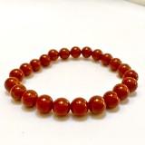 Red Jasper Round Stone Bracelet 8mm