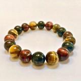 Tiger Eye Round Stone Bracelet 10mm