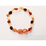 Baltic Amber Baby Teething Bracelet - mixed colours