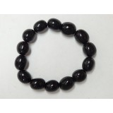 Black Obsidian Tumble Stone Bracelet 14mm