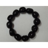 Black Tourmaline Tumble Stone Bracelet - 14mm