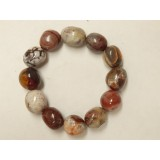 Crazy Lace Agate Tumble Stone Bracelet 14mm