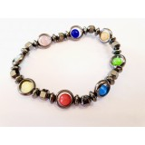 Hematite Chakra - Round Faceted Bracelet 3mm-7mm
