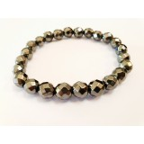 Hematite - Round Faceted Bracelet 8mm