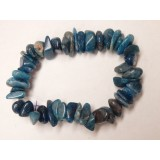 Blue Apatite Large Chip Bracelet