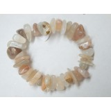 Natural Moonstone Large Chip Bracelet