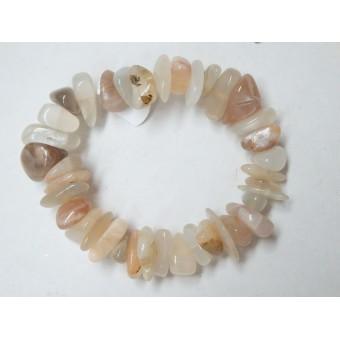 Natural Moonstone Large Chip Bracelet