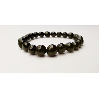 Black Obsidian - Nugget Bracelet - 8mm