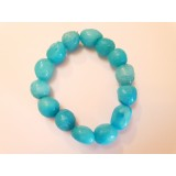 Blue Aragonite - Oval Tumble Stone Bracelet - 14mm