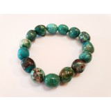 Chrysocolla - Oval Tumble Stone Bracelet 14mm