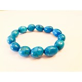Howlite - Oval Tumble Bracelet - Blue dyed - 10mm