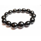 Jet - Oval Tumble Stone Bracelet 10mm